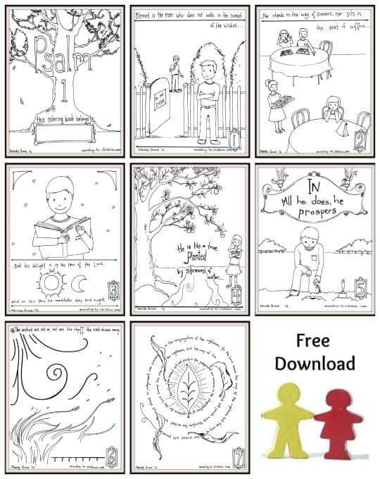 - Psalm One Coloring Pages - Free To Print
