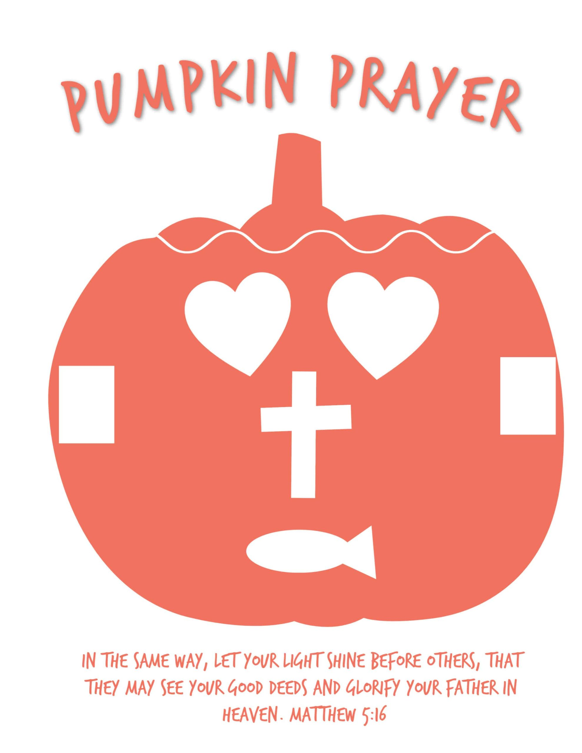 Pumpkin Prayer Poem Free Printbale Activity Object Lesson For Kids