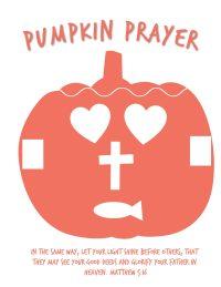 Pumpkin Prayer Printable Template Activity