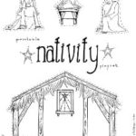 """Jesus in the Manger"" Coloring Pages – Nativity Playset Craft"