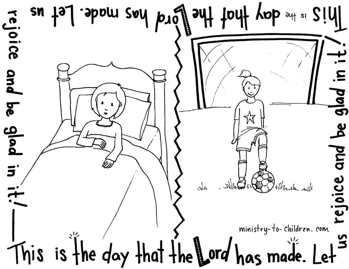 Psalm 118 Coloring Page This Is The Day That The LORD Has