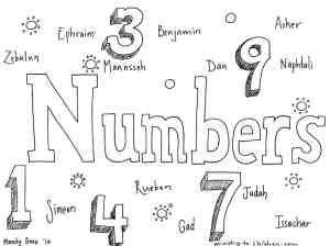 """""""Numbers"""" Bible Coloring Page"""