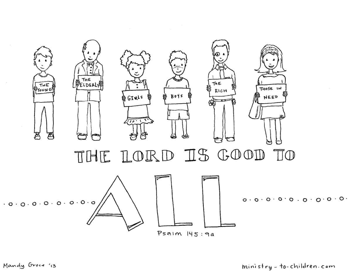 The Lord Is Good To All Coloring Page