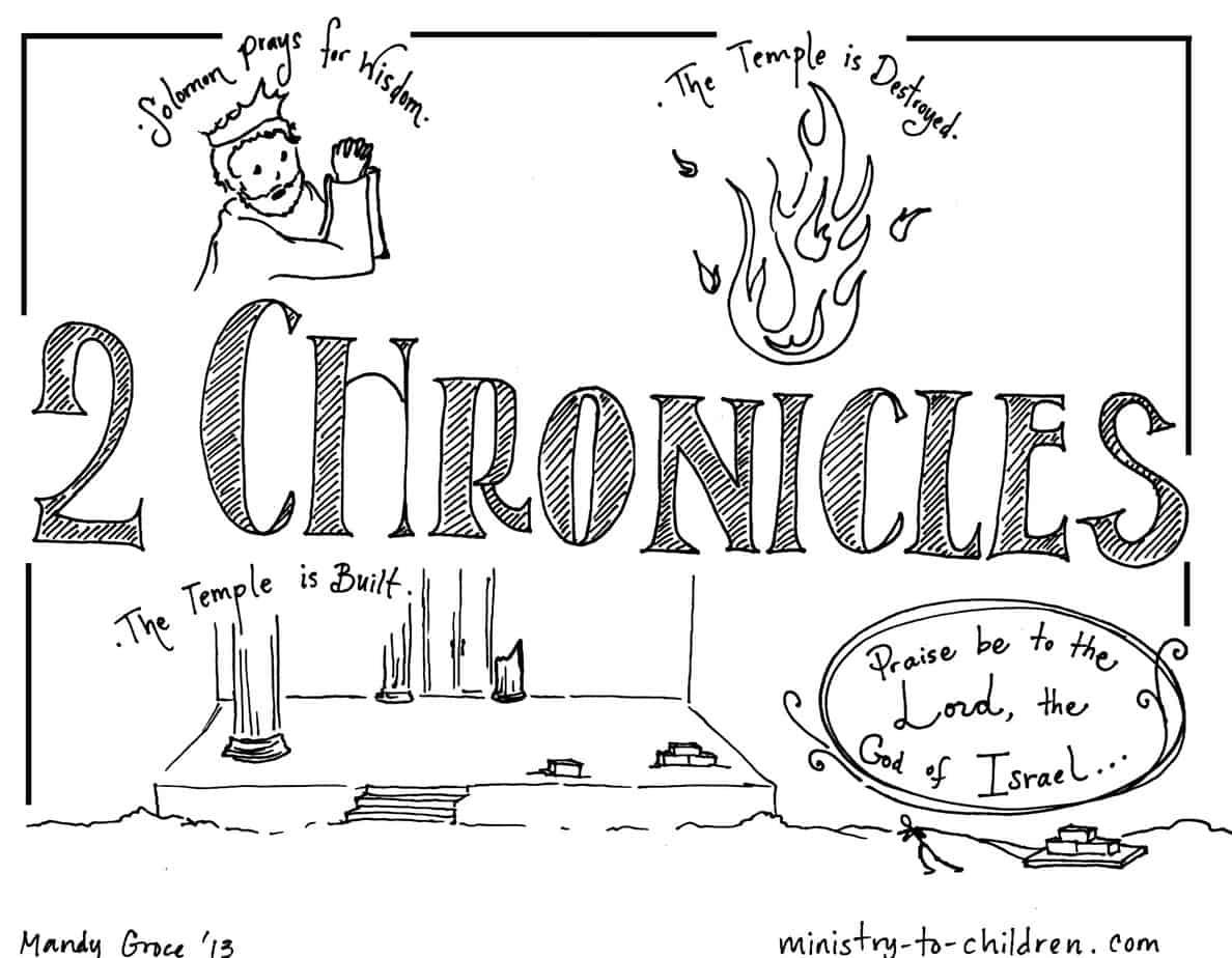 Book Of 2 Chronicles Bible Coloring Page