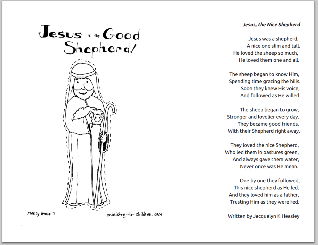 Poem About Jesus The Good Shepherd