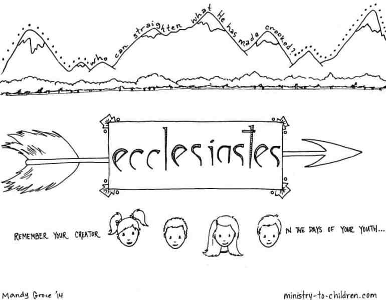 """""""Ecclesiastes"""" Bible Coloring Page"""