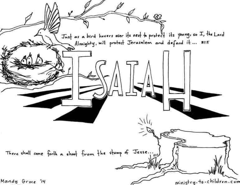 """""""Book of Isaiah"""" Bible Coloring Page"""