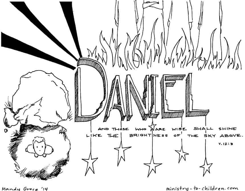 Daniel Bible Book Coloring Page Printable