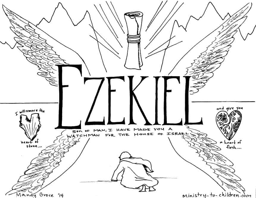 Book of Ezekiel Bible Coloring Page