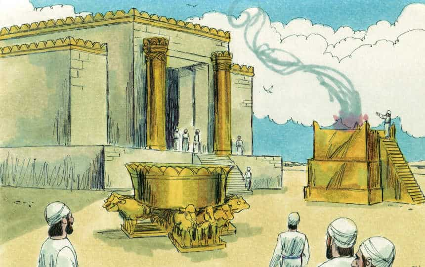 Bible Lesson:  Ezekiel's vision of God's glory departing from the temple