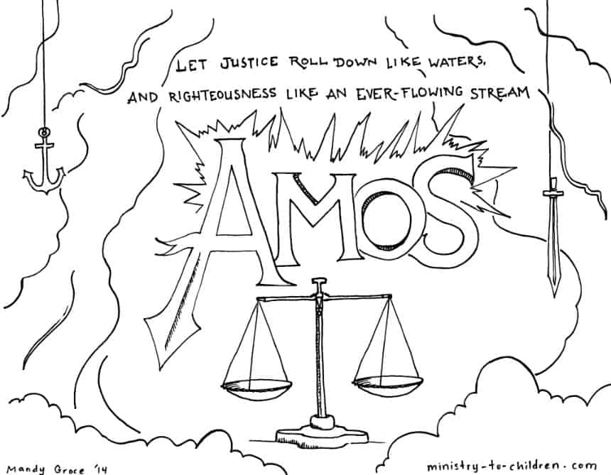 Amos Coloring Page