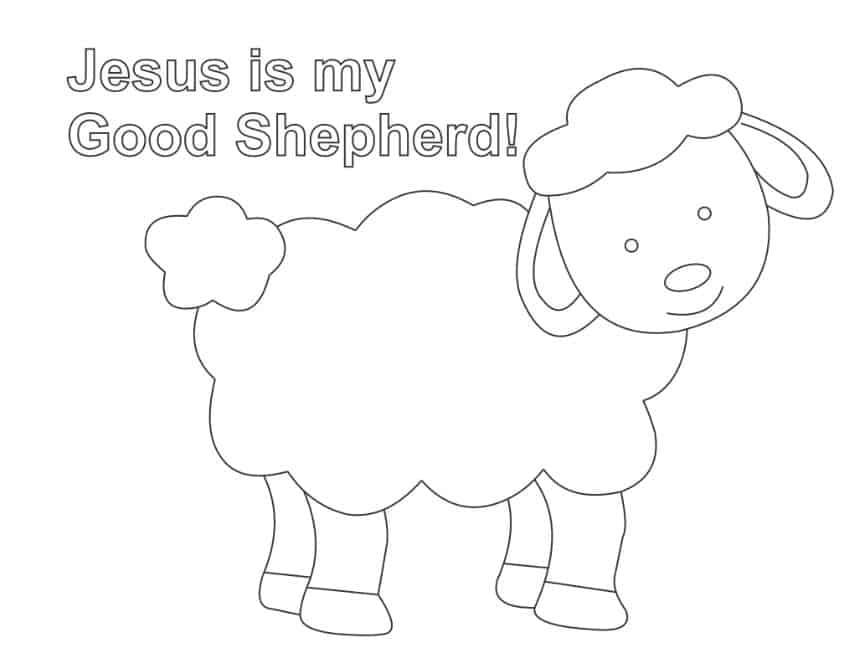 sheep lamb coloring pages cooloring com