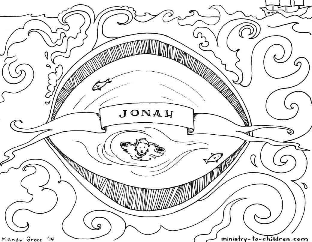 Jonah Bible Coloring Page