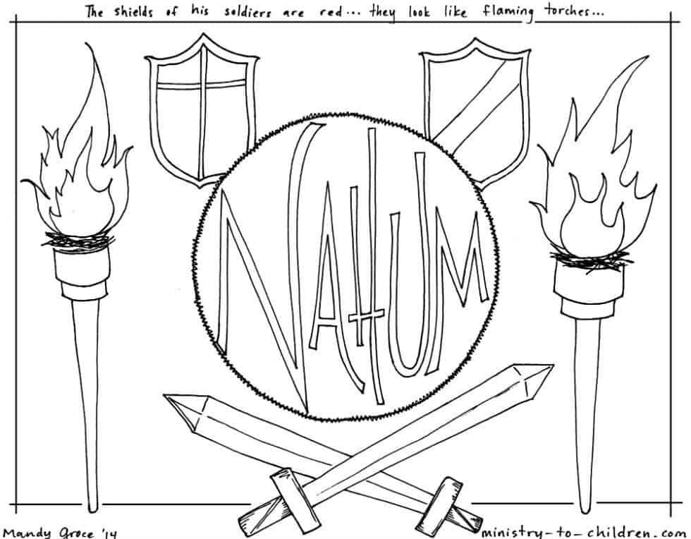 Nahum Bible Coloring Page