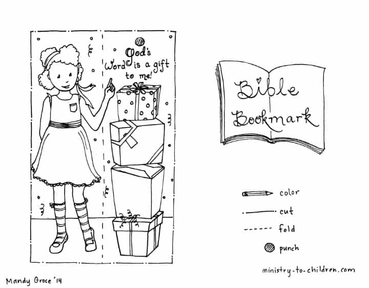 Bible Bookmark Coloring Pages Ministry To Children