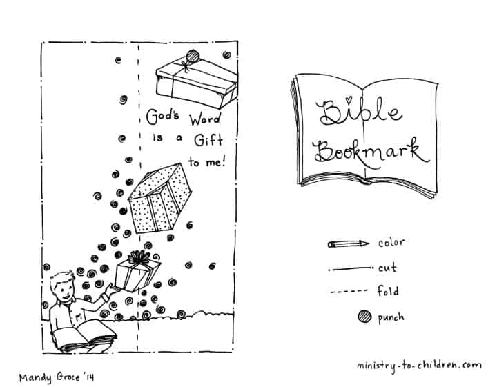 children's bible bookmark