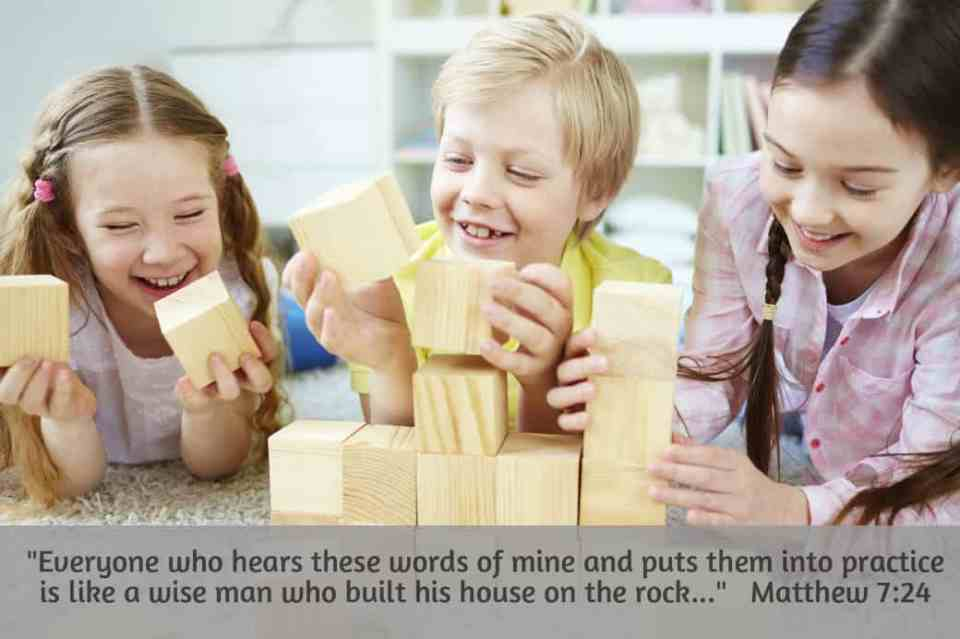 Children's Bible lesson from Matthew 7:24
