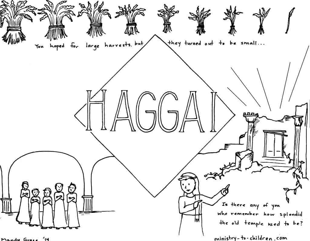 Haggai Bible Book coloring page