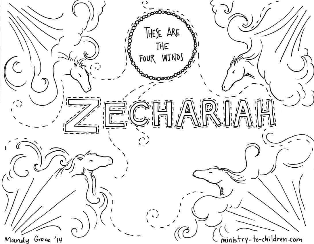 Zechariah Bible Coloring Page