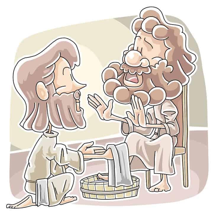 Jesus Washes the Disciples Feet (John 13:1-17) Preschool Lesson | Ministry- To-Children