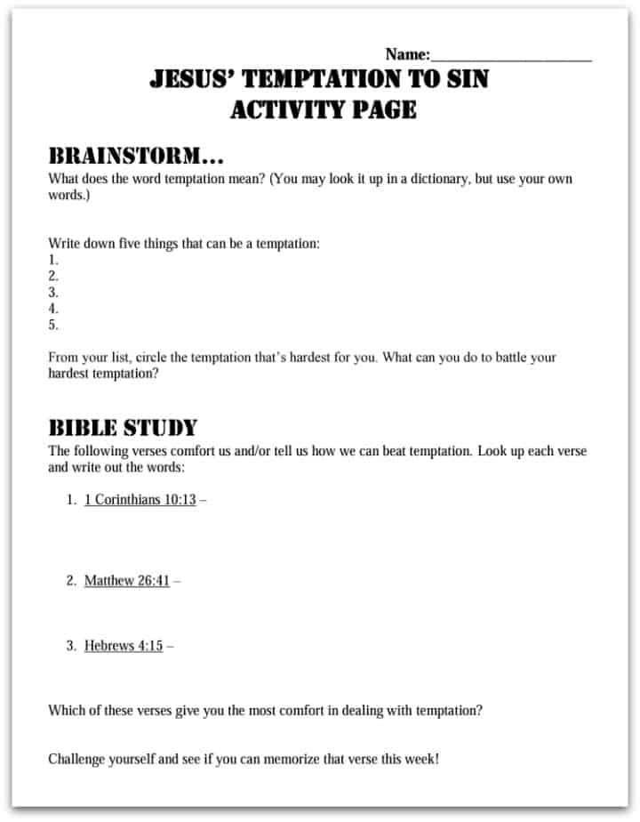 Lesson: Jesus' Baptism and Satan's Temptation (Servanthood for Kids #3)