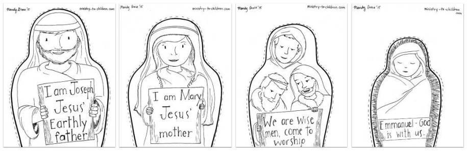 "Printable ""Nesting Dolls"" Craft for Advent"