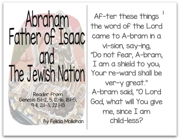 """""""Abraham, Father of Isaac & the Jewish Nation"""" Bible Story Booklet"""