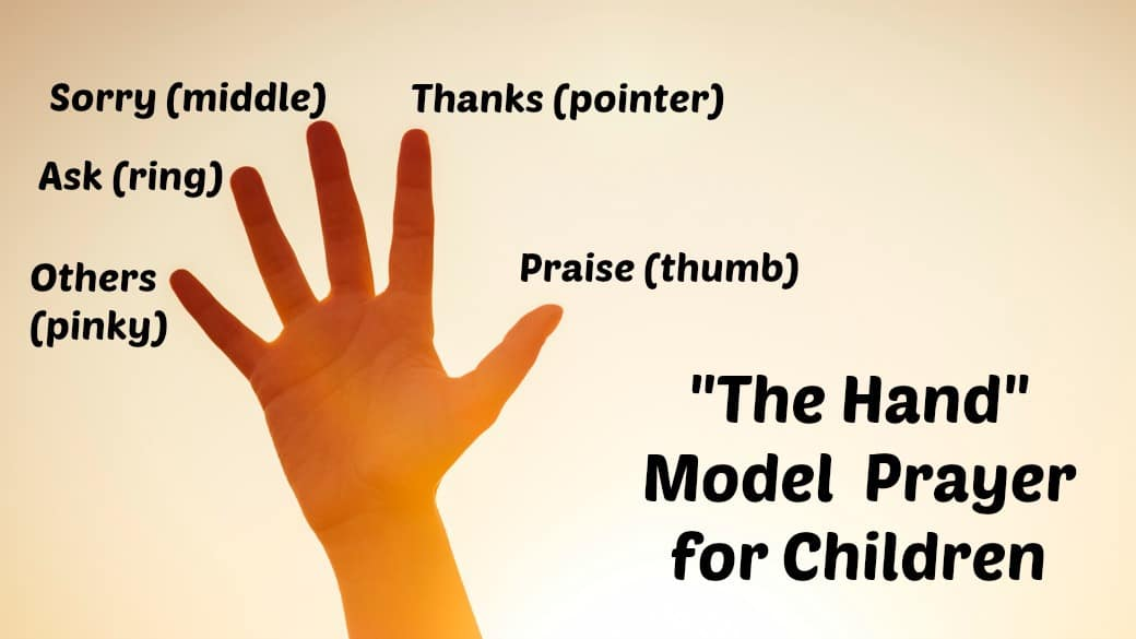 The Prayer Hand For Kids Lord S Prayer Ministry To Children