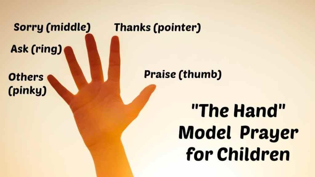 """""""The Hand"""" Model Prayer for Children"""