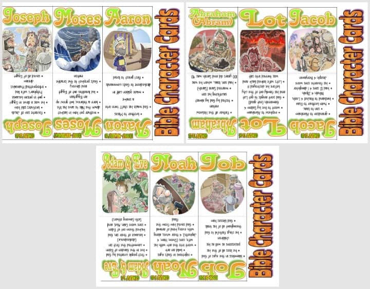 Old Testament Bible Hero Cards - Part 1 of 3