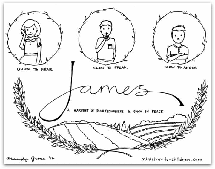 James Bible Book Coloring Page