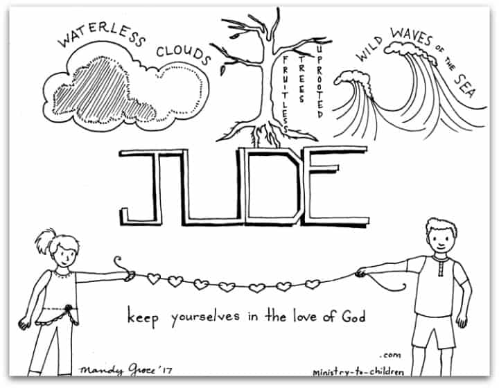 Book of Jude Coloring Page