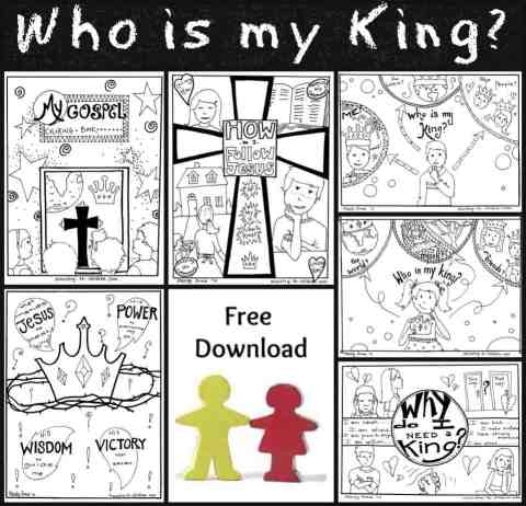 Following King Jesus Coloring Pages