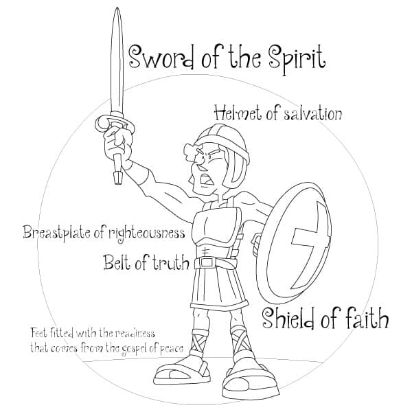 armor of god coloring page # 5