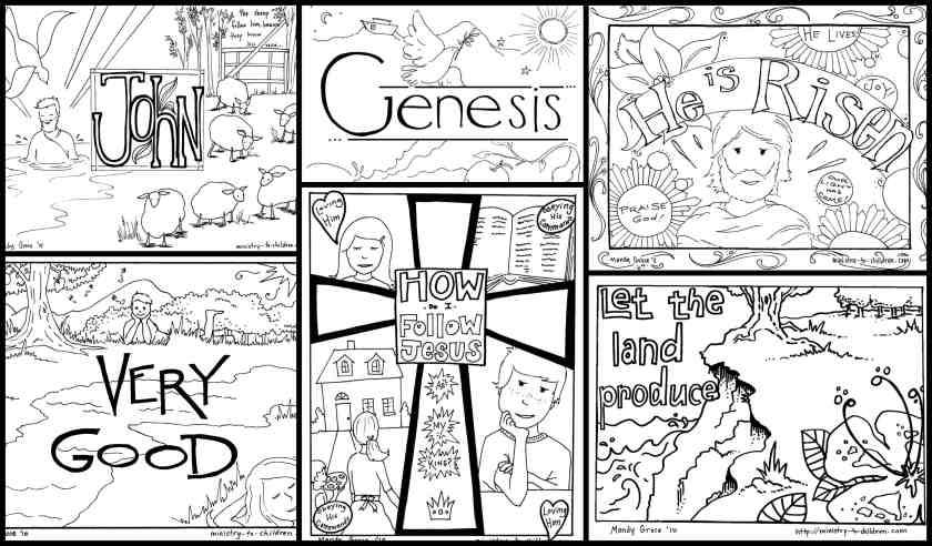 bible coloring pages for kids [free printables]