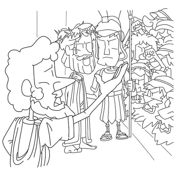 Jesus trial before Pilot Coloring Page