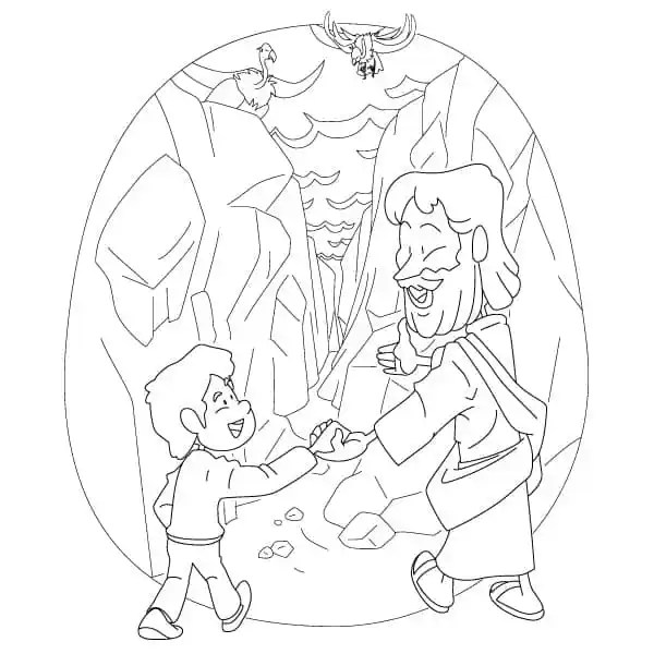 Printable Psalm 23 Coloring Page for Children