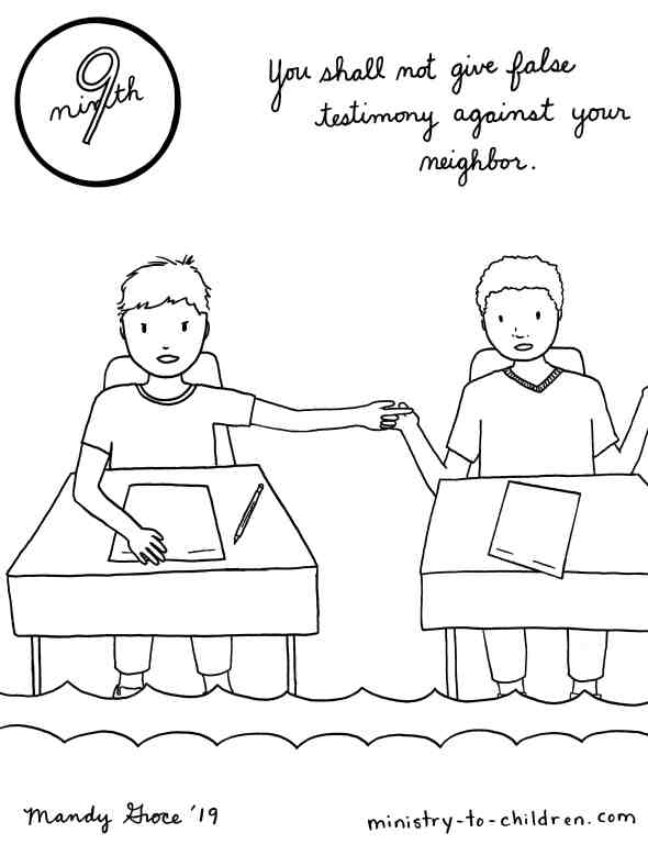 Do Not Lie Coloring Page