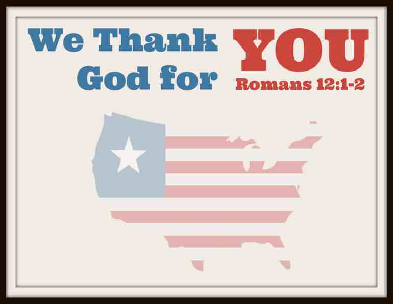 We Thank God for You Printable