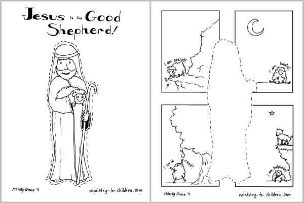 Jesus Holding Lamb coloring page | Free Printable Coloring Pages | 400x600