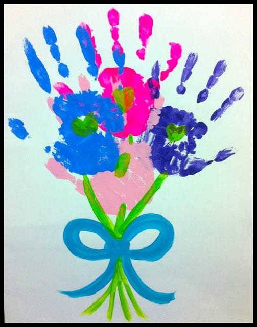 Flower Hands Mother's Day Craft