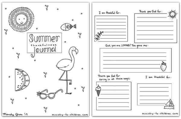 Jornal de verão (páginas para colorir) para crianças