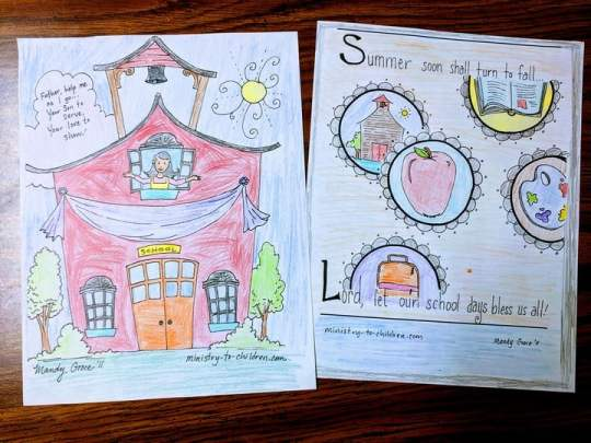 First Day of School Coloring Pages (Christian Themes)
