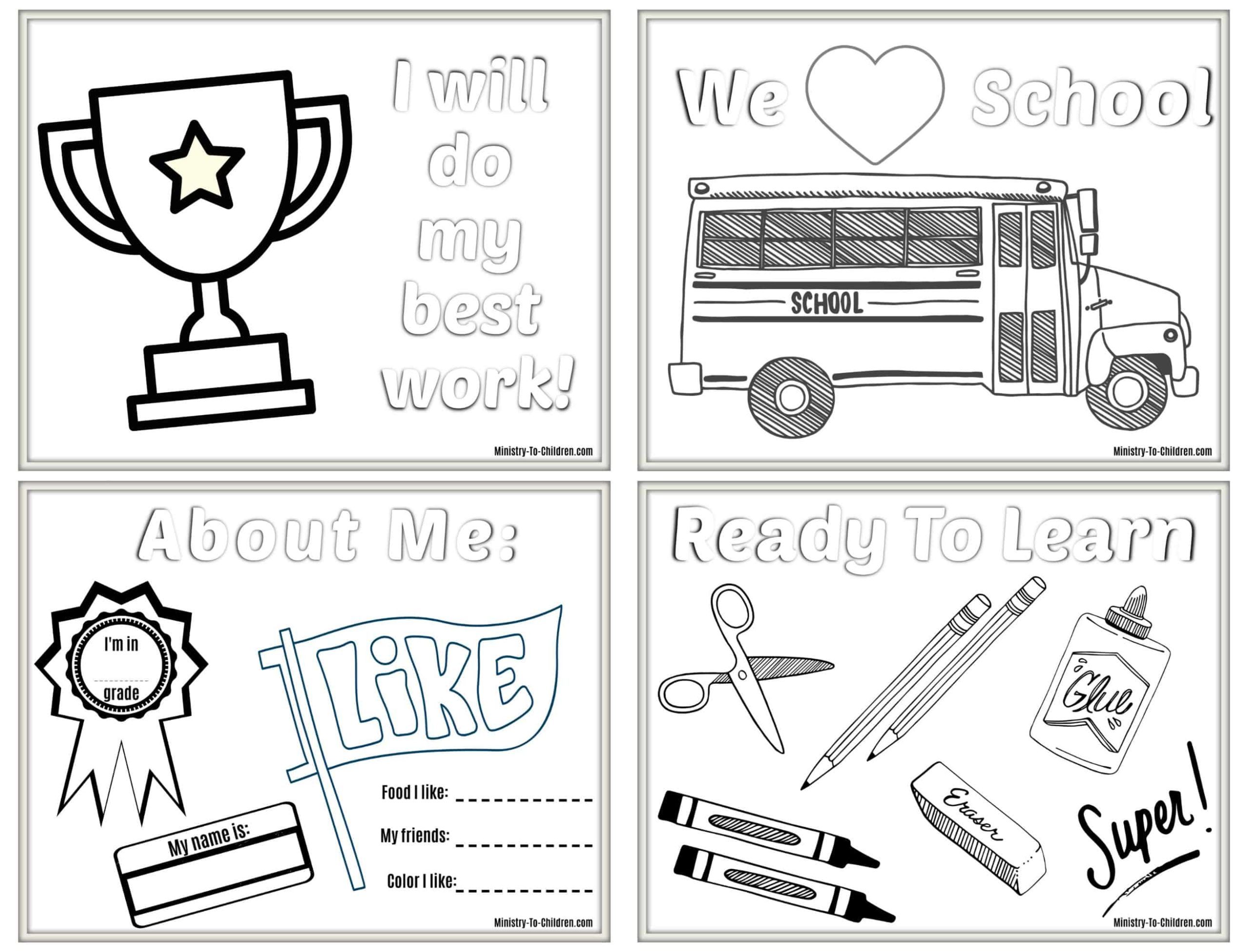 - 6 Back To School Coloring Pages (Free PDF Printables) For 2019