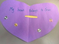 heart craft Sunday school