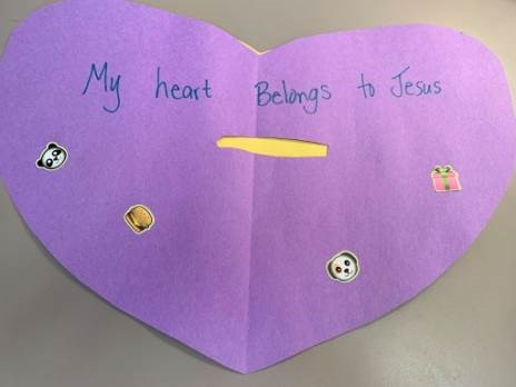 Giving My Heart to Jesus Bible Craft