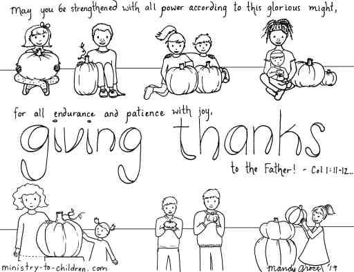 Give Thanks to the Father - Religious Coloring Page for Thanksgiving