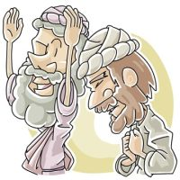 Sunday School Lesson on the Pharisee and Tax Collector - Luke 18:9-14