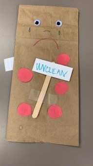 Unclean puppet craft for Jesus heals Lepers Sunday School