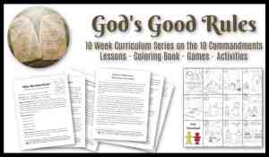 Gods Rules Ten Commandments for Kids Lesson Study - children's ministry curriculum